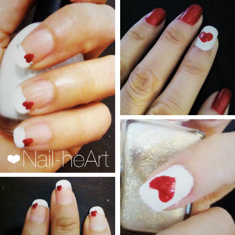 San Valentín nail art