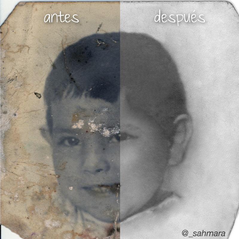 Retoque fotográfico antes y después