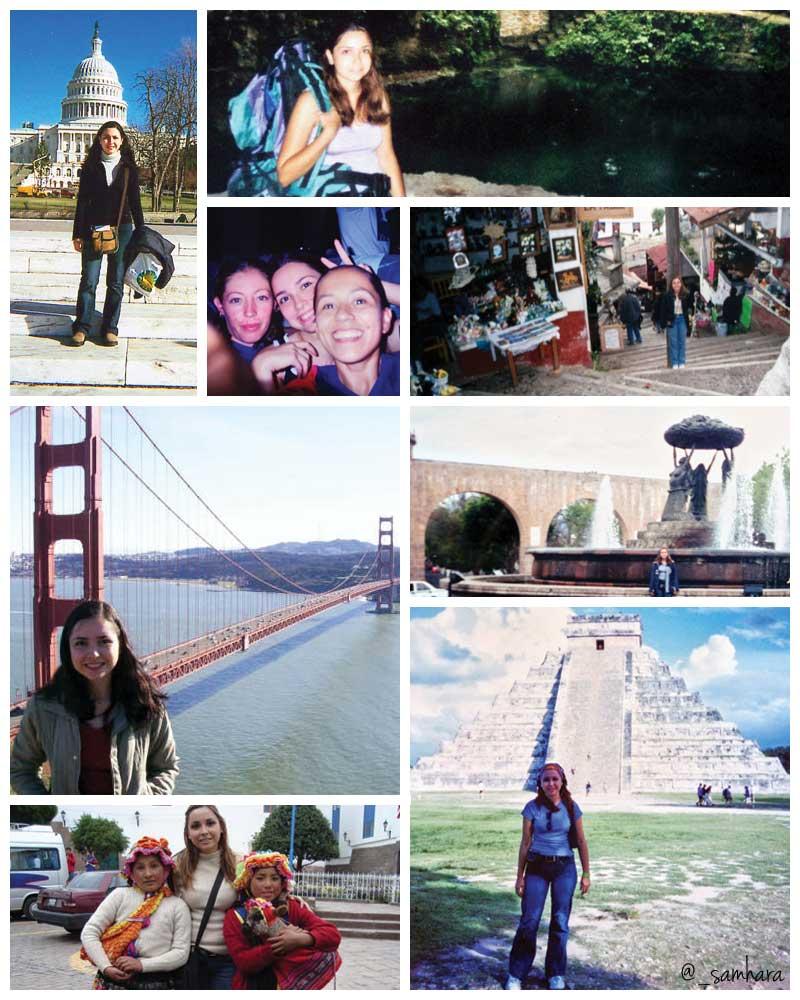 Collage de fotos de viajes