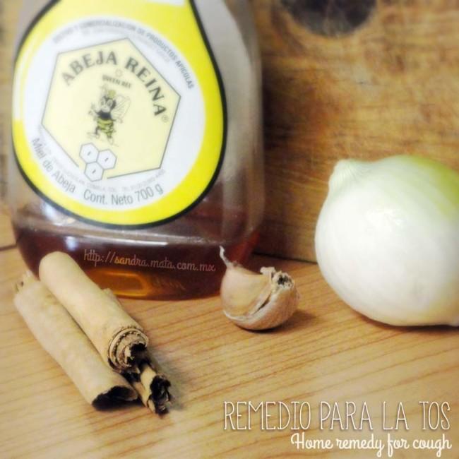 Ingredientes: ajo, cebolla, canela y miel.