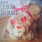 DIY: Bolsas de celofán decoradas / Decorated cellophane bags