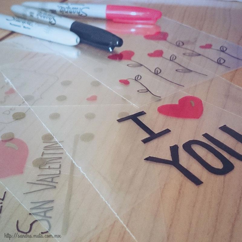 Bolsas decoradas con marcador