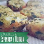 Medallones de espinaca y quinoa / Spinach & quinoa medallions