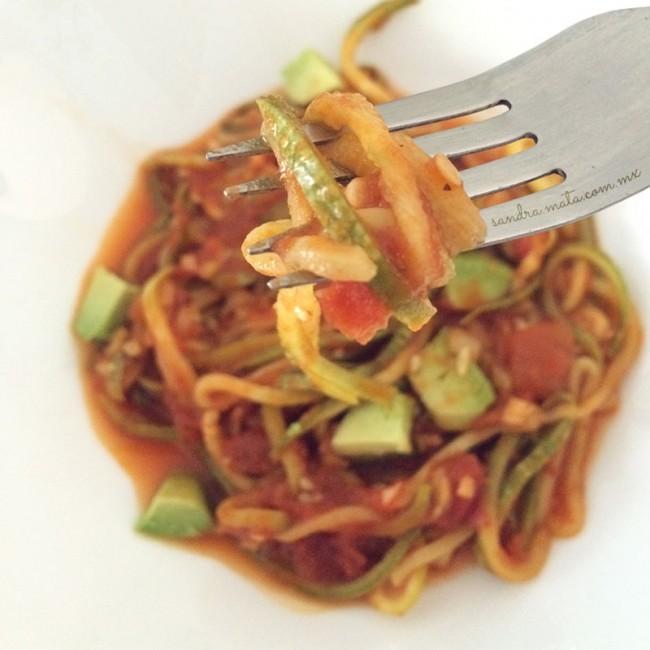 Spaghetti vegetariano de cabalaza