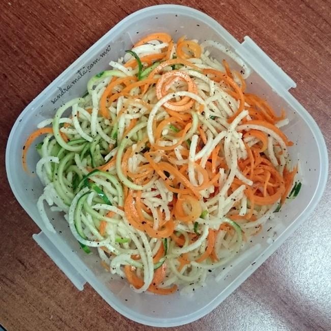 Verduras rayadas con el Spiralizer